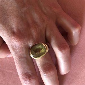 Authentic David Yurman citrine noblesse ring